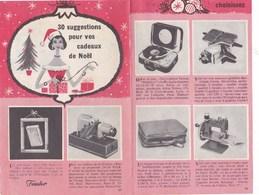 Pub.1957 Cadeaux De Noël Suggestions,Teppaz,Calor,Singer,Feudor,Pelican,Yalacta,Fumalux,Moulinex,rasoir R.B,Cibié... - Publicités