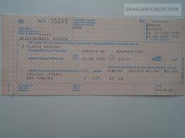 ZA159.6 Railway Ticket -Train  Zürich - Budapest - Switzerland Hungary 1992 -Sitzplätze  Seating Places Assises - Transportation Tickets