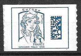 1216 _ Marianne Datamatrix _ Europe _ Supprot Blanc _ Issu De Feuille De 50 Timbres - Adhésifs (autocollants)