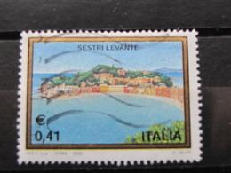 *ITALIA* USATI 2003 - 30^ TURISTICA SESTRI LEVANTE - SASSONE 2681 - LUSSO/FIOR DI STAMPA - 6. 1946-.. Repubblica