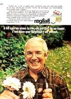 """Pub.1971 Régilait """"A 60 Ans On Aime La Vie,on Est Fier De Sa Santé,c'est Bien Que Régilait Y Ait Pensé. """" TBE - Publicités"""
