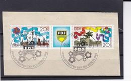 DDR, Nr. 3248/49 ZD ESST Auf Briefstück (K 3974) - Gebraucht