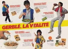 """Pub.1983  Gerblé La Vitalité """"Besoin De Récré ? Dure Journée ? Teint Brouillé ?Jambes Coupées ? Manque De Vitalité ? TBE - Publicités"""