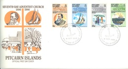 PITCAIRN - 18.10.1986 - FDC - 7th DAY ADVENTIST CHURCH - Yv  275-278 - Lot 18864 - Pitcairn
