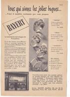 """Pub.1953 BAYERT  Joaillier   Bagues  """" Spécialiste De La Bague De Fiançailles """"Photo Boutique Paris  TBE - Publicités"""
