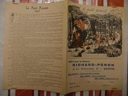 Année 60 Protège Cahier La MAISON RICHARD-PERON A SAINTES LE PETIT POUCET - Cartes