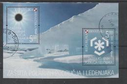 Croatia 2009, Used, Michel Bl 34, Preserve The Polar Regions And Glaciers - Croatia