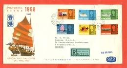 NAVI -HONG KONG - FDC  BARCHE-NAVI- 1968 - - Hong Kong (1997-...)