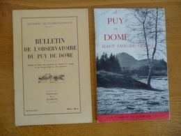 2 Documents Sur Le PUY-DE-DOME (Voir Description) (1953 Et 54) - Auvergne