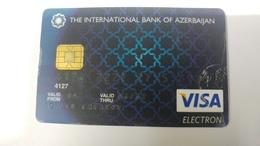 Azerbaijan-(400)-credit Card-used Card+1card Prepiad Free - Cartes De Crédit (expiration Min. 10 Ans)