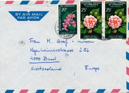 NYASOSO (Kumba) / Cameroun - 1971 , Flowers , Blumen - Nach Basel - Cameroon (1960-...)