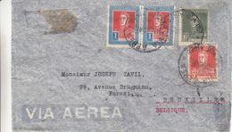 Argentine - Lettre De 1934 - Oblit Buenos Aeres - Exp Vers Bruxelles - Vol Par Zeppelin - Cachet De Friedrichshafen - Zeppelins