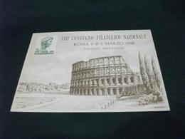 STORIA POSTALE FRANC. S. DOMENICO SAVIO ITALIA XIII CONVEGNO FILATELICO NAZIONALE ROMA 1958 ILLUSTRATORE VEDI FIRMA - Collector Fairs & Bourses