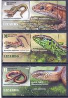 2018. Belarus, Lizards, 3v With Labels, Mint/** - Belarus