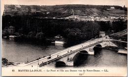 78 MANTES LA JOLIE - Le Pont Et L'ile Aux Dames - Mantes La Jolie