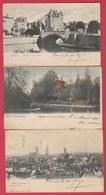 Gand / Gent - 3 Postkaarten 1903 ( Verso Zien ) - Gent
