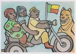ERGON - Promenade En Zémijan - Moto - Motocyclette - Bénin - Drapeau - Illustrateurs - Illustrateur - Ergon