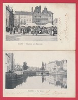 Gand / Gent - 2 Postkaarten 1901 ( Verso Zien ) - Gent