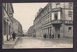 CPA 57 - ALGRANGE - Rue Clémenceau - TB PLAN CNETRE VILLE TB ANIMATION Devanture Café Restaurant - Frankreich