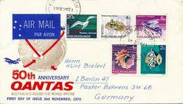 KILBURN NORTH / Cocos Islands - 1971 Tiere , Muscheln - Nach Berlin - Cocos (Keeling) Islands