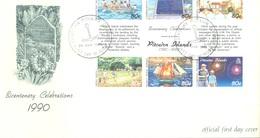 PITCAIRN - 24.3.1991 - FDC - BICENTENARY MUTINY OF THE BOUNTY IV - Yv 360-365 - Lot 18869 - Pitcairn
