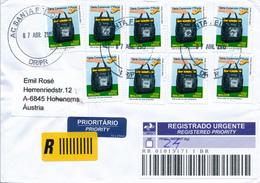 SANTA FELICIDA / Curitiba / Brasilien - 2015 , Mehrfachfrankatur - R-Brief Nach Hohenems /Österreich - Brazil