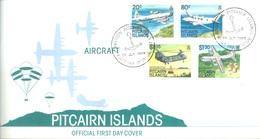 PITCAIRN - 25.7.1989 - FDC - AIRCRAFT - Yv 329-332 - Lot 18870 - Pitcairn
