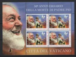 Vaticano 2018 Sass. BF S.Pio Da Petralcina **/MNH VF - Blocchi E Foglietti