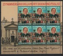 Vaticano 2018 Sass. BF Don Pino Puglisi **/MNH VF - Blocs & Feuillets