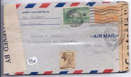 CUBA- LETTRE POUR LA FRANCE- 1942- AVEC CENSURE - Lettres & Documents