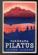 Panorama Pilatus Luzern Lucerne - 14,8 X 9,5 Cm - 110cm Déplié - Tourism Brochures