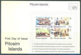 PITCAIRN - 6.5.1980 - FDC - LONDON 1980 - Yv BLOC 6 - Lot 18871 - Pitcairn