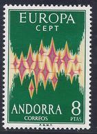 ANDORRA 1972 - Edifil #72 - MNH ** - Europa-CEPT