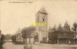 77 Pontcarré, L'Eglise, Petite Animation, Affranchie 1937 - France