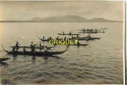 Salomon, Photo Originale, Groupe De Pirogues, 1934 - Solomon Islands