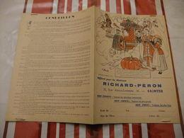 Année 60 Protège Cahier La MAISON RICHARD-PERON A SAINTES CENDRILLON - Cartes