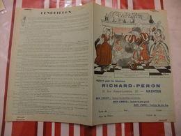 Année 60 Protège Cahier La MAISON RICHARD-PERON A SAINTES CENDRILLON (2) - Cartes
