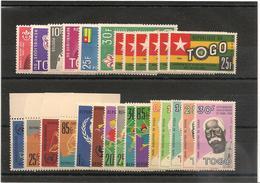 TOGO Année 1961 N° Y/T: 319/324**-329/349** Côte: 16,90 € - Togo (1960-...)