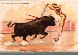 CORRIDA  A MEJANES  GRANDE PAIRE DE BANDERILLES  ILLUSTRATEUR  HENRY COUVE - Corrida