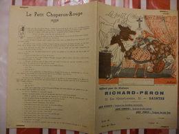 Année 60 Protège Cahier La MAISON RICHARD-PERON A SAINTES  LE PETIT CHAPERON ROUGE - Cartes