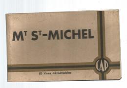 Cp , 50, MONT SAINT MICHEL , 10 Vues Détachables , Ed. CAP , CARNET DE 10 CARTES POSTALES - Le Mont Saint Michel