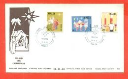 NATALE - MALTA- FDC - 1981 - Malte