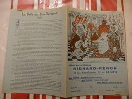 Année 60 Protège Cahier La MAISON RICHARD-PERON A SAINTES  LA BELLE AU BOIS DORMANT (1) - Cartes