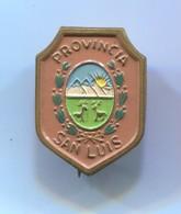 San Luis Provincia - Argentina, Blazon, Coat Of Arms, Vintage  Pin, Badge, Abzeichen - Cities