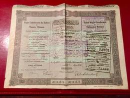 RÉGIE  COÏNTÉRESSÉE  Des  TABACS  De  L' EMPIRE  OTTOMAN -------Titre  De  5  Actions - Shareholdings