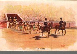 CORRIDA  A MEJANES  LE PASEO  ILLUSTRATEUR  HENRY COUVE - Corrida