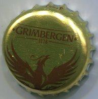 CAPSULE-BIERE-BEL-BRASSERIE ALKEN-MAES Grimbergen Or & Marron Sans Fond - Bière
