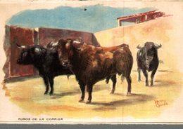 CORRIDA  A MEJANES  TOROS DE LA CORRIDA  ILLUSTRATEUR  HENRY COUVE - Corrida