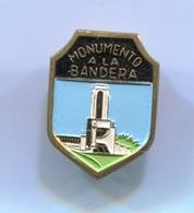 Monumento A La Bandera Rosario - Argentina, Blazon, Coat Of Arms, Vintage  Pin, Badge, Abzeichen - Cities