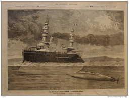Le Bateau Sous-marin GUSTAVE-ZÉDÉ -  Page Original 1899 - Documenti Storici